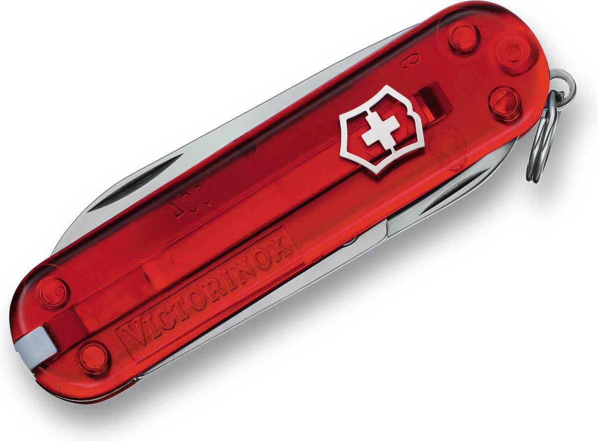 Scyzoryk Victorinox Classic SD czerwony przeźroczysty
