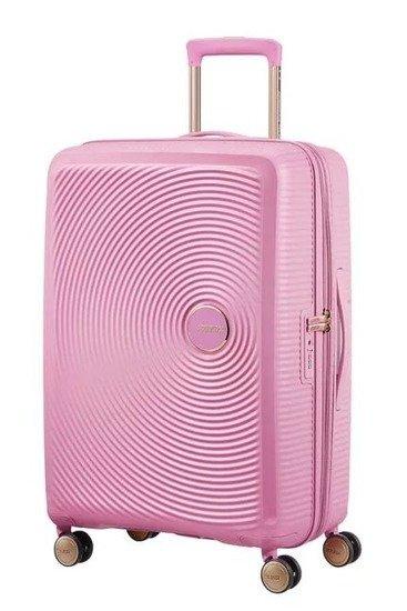 Walizka American Tourister Soundbox 67 cm powiększana jasno różowa