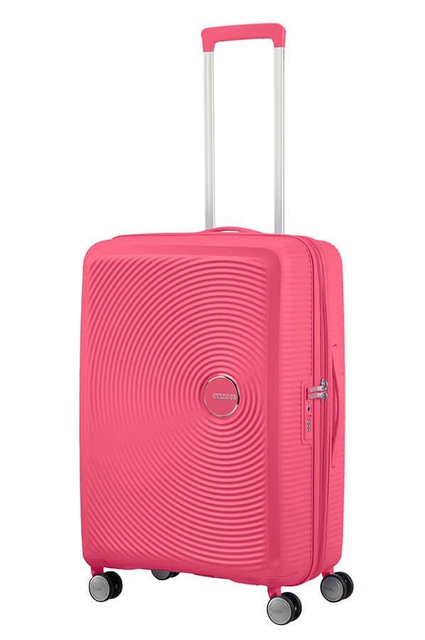 Walizka American Tourister Soundbox 67 cm powiększana różowa