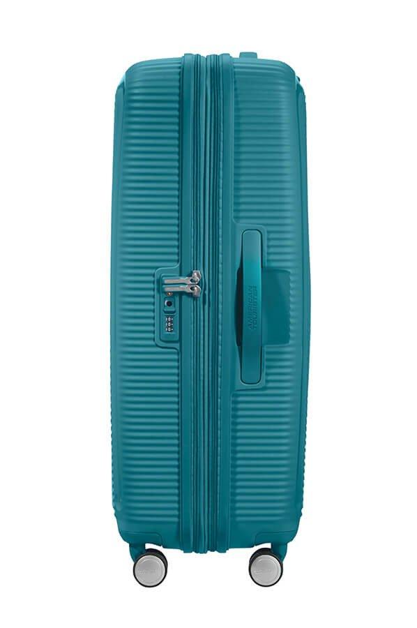 Walizka American Tourister Soundbox 77 cm powiększana turkusowa
