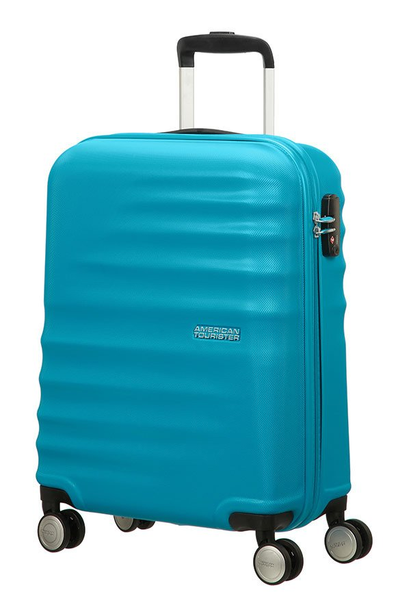 Walizka American Tourister Wavebreaker 55 cm niebieska