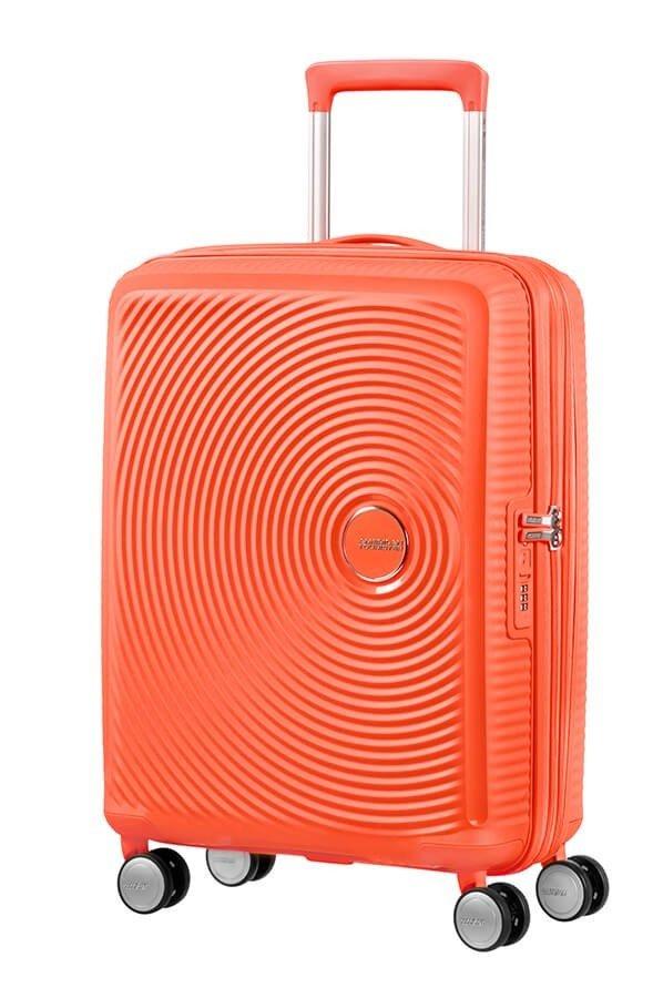 Walizka kabinowa American Tourister Soundbox 55 cm powiększana czerwona