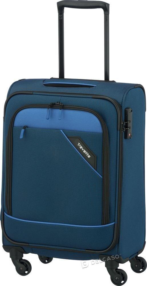 Walizka kabinowa Travelite Derby 55 cm mała niebieska