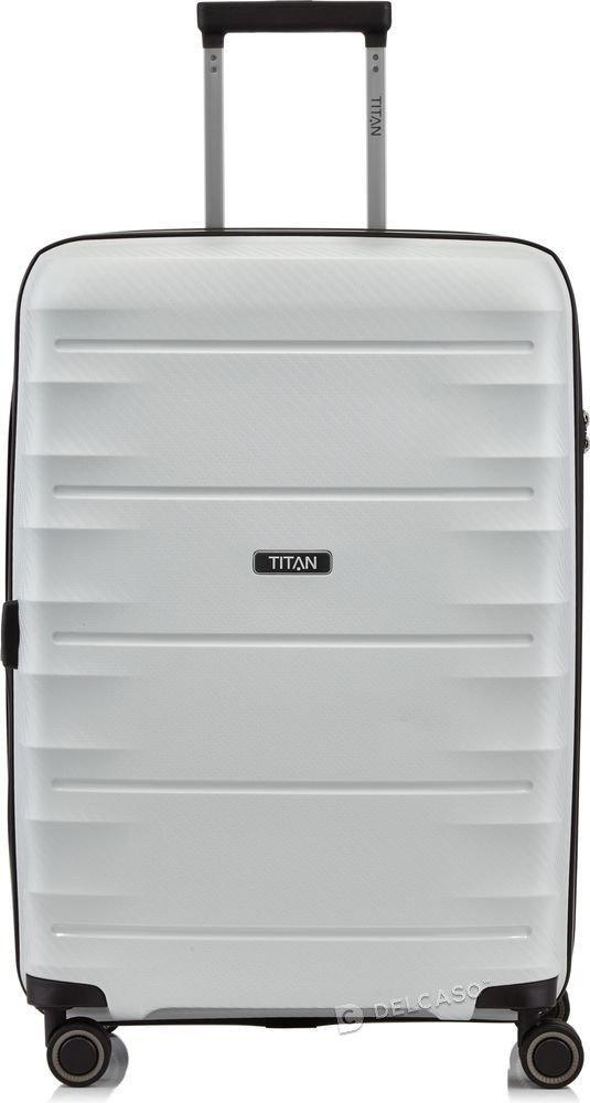 Walizka średnia - poszerzana Titan Highlight 67 cm biała