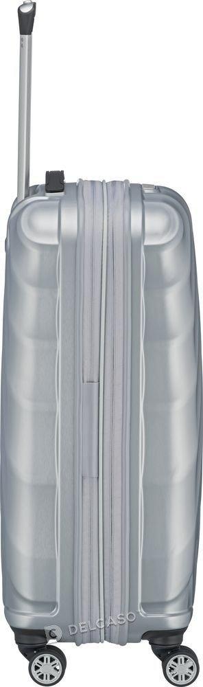 Walizka średnia - poszerzana Titan Shooting Star 66 cm srebrna