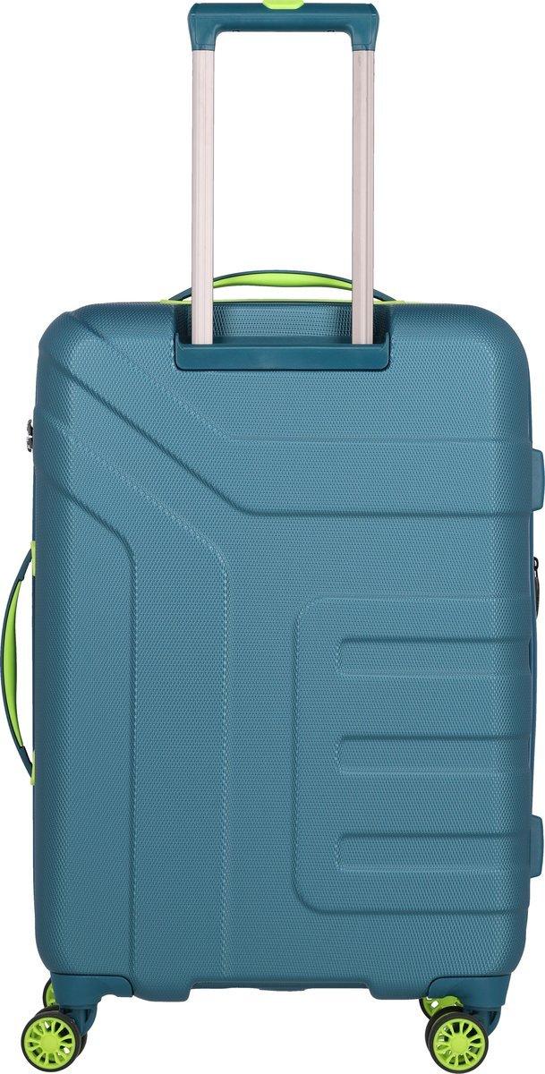 Walizka średnia poszerzana Travelite Vector 70 cm petrol
