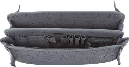 Walizka kabinowa 2K biznesowa Titan Xenon 40 cm mała czarna