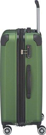 Walizka średnia poszerzana Travelite City 68 cm zielona