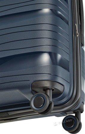 Walizka średnia - poszerzana Travelite Motion 67 cm granatowa